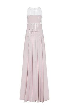 Strapless Illusion Seam Pleated Dress by Carolina Herrera for Preorder on Moda Operandi