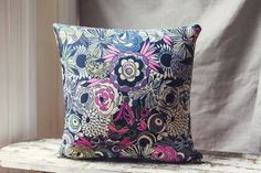 50cm Cushion Covers in an abstract floral from by SourPussDesigns