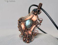Wire pendant wire jewelry copper jewelry wire wrapped by Artual