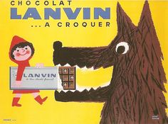Chocolat Lanvin, ca. 1950 by Morvan Little Red Riding Hood LRRH