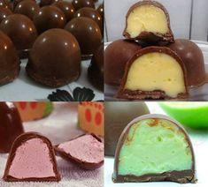 Ingredientes 500g de chocolate ao leite fracionado AS MELHORES RECEITAS DE MARÇO- 2018: 1 - 101 RECEITAS LOW CARB (FITNESS) 2 - PUDIM DE LIMÃO (SEM FORNO) 3 - 101 RECEITAS 0 CARBOIDRATOS - TURBINE SUA DIETA 4 - PUDIM CAIPIRA 5 - DOCE DE LEITE CASEIRO 1 caixa de leite condensado 2 caixas de creme de leite 1 pacote de suco em pó de qualquer sabor forma para trufas Modo de Preparo Derreta o chocolate em banho-maria. Enquanto o chocolate derrete, coloque no liquidificador o leite condensado, o… Pudding, Desserts, Food, Tailgate Desserts, Deserts, Eten, Postres, Hoods, Meals