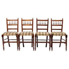 Check out this item at One Kings Lane! 1930s Gustavian-Style Dining Chairs, S/4