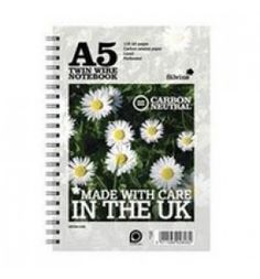 "Buy the new ""Silvine R303 Co2 Neutral A5 Twin Wire Notebook White 120 Pages Pk5"" online today. Now in stock."