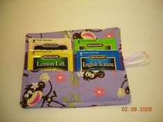 Tea Bag Wallet -- my sister-in-law is still using hers, two years after I gave it to her!