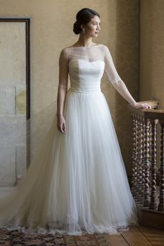 14 Incredible Illusion Neckline Wedding Dresses - Style Me Pretty