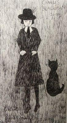 charles blackman. Australian Painters, Australian Artists, Alice In Wonderland Series, Quotes About Photography, Cat Boarding, Cat People, Artist Art, Cat Art, Home Art