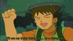 its only raining on his pan #brock #pokemon