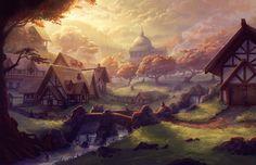 Thornwall Fantasy concept art Fantasy landscape Fantasy city