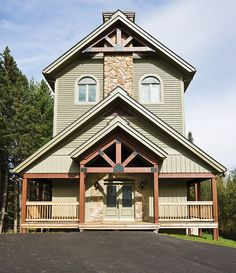 Our Portfolio : Residential project - Laurentides Beach Cottage Exterior, Ranch, Wood Siding, Beach Cottages, Landscaping, Coastal, Barn, Patio, House Styles