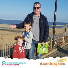 """Daddy and the children on Skegness pier on a beautiful sunny day afternoon."" #Travel #Holiday"