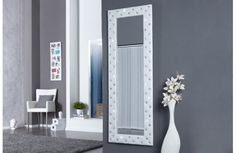 Miroir mural pvc blanc capitonné de strass   Miroir mural, Miroirs ...