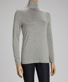 Heather Gray Turtleneck | Daily deals for moms, babies and kids