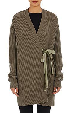 Helmut Lang Grosgrain-Tie Cardigan - Cardigan - Barneys.com