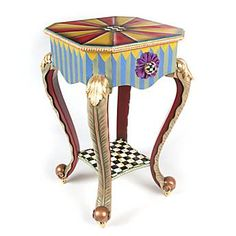 Epaulet Accent Table from McKenzie Childs, maybe paint for powder room