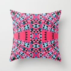 Pink Throw Pillow by Ornaart - $20.00
