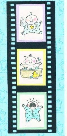 Baby firsts filmstrip card