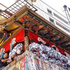 祇園祭に来てみました。ちなみにこれは長刀鉾。 #祇園祭 #長刀鉾 #お祭り #京都 #kyoto