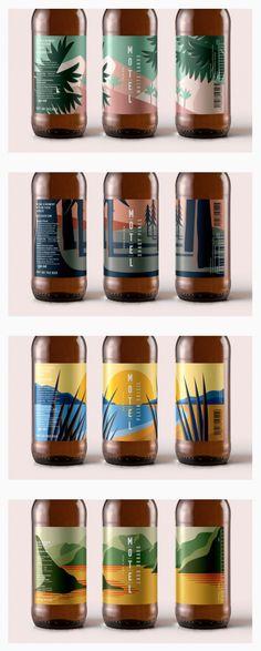 Beer design featured on Oh Beautiful Beer drink packaging Motel Beer