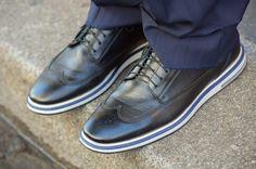 Sapato social masculino Raphael Steffens com solado listrado