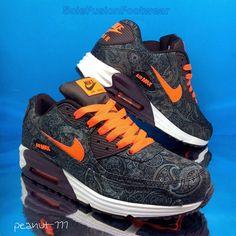 Nike Mens Air Max Lunar 90 Trainers size 7 Brown/Orange Rare Sneakers US 8 EU 41 | eBay