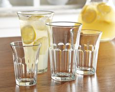 Siena Glass Tumblers, Assorted, Set of 24