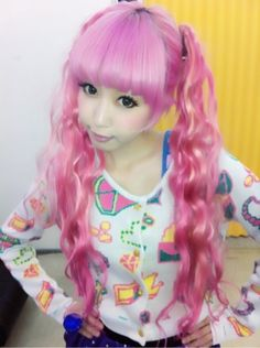 She is so kawaii (and if you don't know what kawaii means it means cute in japanese)