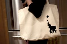 Screen Printed Elephant Tote | A Curiously Chic Life