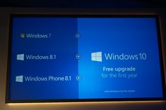 Windows 10 Will Be Free Upgrade for One Year