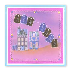 Wee houses New Home Groovi card created by Susan Moran