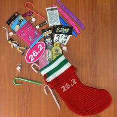 26.2 Marathon Girl Christmas Stocking  #goneforarun