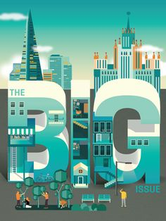 Big issue Typography design inspiration
