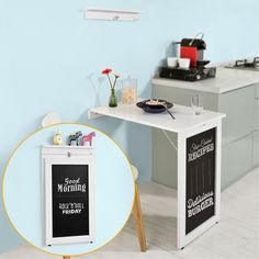 Space saving wall mounted folding table gives you extra work or dining space that folds down and out of the way when not needed. Ideal for kitchen, dining room, office, studio, etc. Convenient and space-saving wall table desk is good choice for your home and office. | eBay!
