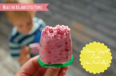 Yogurt Berry Licks (or Ice lollies or popsicles) - a healthy and yummy sugar-free summer snack for kids (and big people too) Low Sugar Recipes, No Sugar Foods, Fun Recipes, Free Summer, Summer Fun, Healthy Eating For Kids, Healthy Snacks, Sugar Free Snacks, Big People