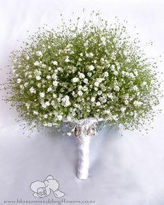 wedding-bouquet-gypsophilla by Blossom Wedding Flowers, via Flickr