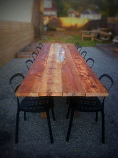 This old barn wood table was made for $32...stunningly beautiful--need approximately 8 for my wedding...hmmm...