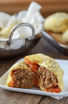 Meatball Bombs | Savory Ground Beef Recipes To Try | Homemade Recipes | https://homemaderecipes.com/what-to-make-with-ground-beef/