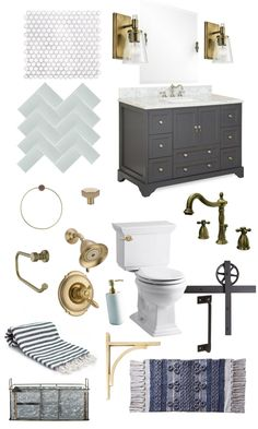 hallway bath sneak peek - The Handmade Home Powder Room Design, Home Board, Bathroom Inspiration, Bathroom Ideas, New Home Designs, Basement Bathroom, Handmade Home, White Bathroom, Bathroom Interior Design