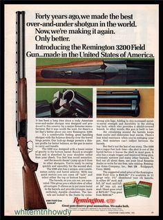 1973 REMINGTON 3200 O/U Field Gun Shotgun PRINT AD : Gun Posters, Catalogs & Flyers at GunBroker.com