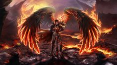 fantasy art,fire,heroes,Heroes of Might and Magic,Heroes Of Might And Magic VI,knights,magic,repost,video games,wings,wallpaper