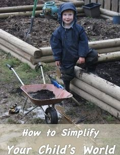 """Happier, calmer kids?  Simplify their world ~ Life goes too fast; """"Too Much""""  everything."""