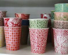 """Porcelain """"Paper"""" Cups"""