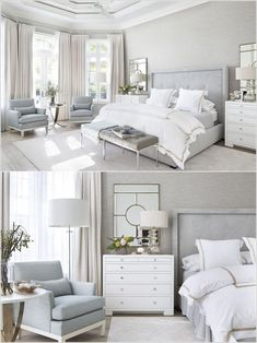 Magnificient Master Bedroom Decorating Ideas - TRENDEDECOR : modern farmhouse master bedroom decor, farmhouse bedroom design rustic neutral bedroom design with white walls and white bedding nightstand decor, side table styling and wall art Modern Master Bedroom, Modern Bedroom Design, Master Bedroom Design, Interior Modern, Home Decor Bedroom, Room Interior, Interior Design, Bedroom Designs, Diy Bedroom