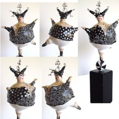 Els Lam - Dolly Upside-down Paper Mache Sculpture, Sculpture Art, Wire Crafts, Clay Crafts, Plus Size Art, Clay Art Projects, Chicken Art, Paper Animals, Paperclay
