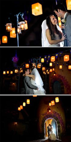 "It's always a great time to get ""Tangled"" up in love. Disney Tangled inspired wedding photography."