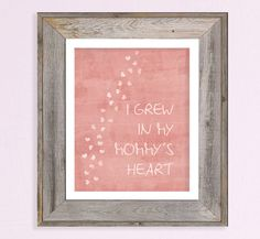 """""""I grew in my mommy's heart"""" Adoption Quote Poster Print - for my niece and nephew!  We are so blessed you are in our family!"""