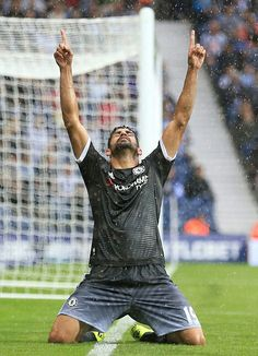 Costa scores against West Brom Chelsea Blue, Fc Chelsea, Chelsea Football, Chelsea Fc Players, West Brom, Barclay Premier League, Stamford Bridge, English Premier League, Raquel Welch