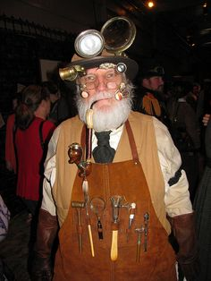 Steampunk Day at Dickens by pjalau, via Flickr