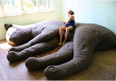 WANT. Giant cat couch