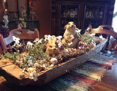 Dough bowl decor for Easter                                                                                                                                                                                 More