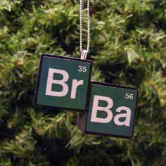 Breaking Bad Inspired Bromine Barium Symbol Blocks Christmas Ornament